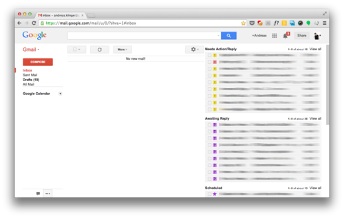 A handy gmail system