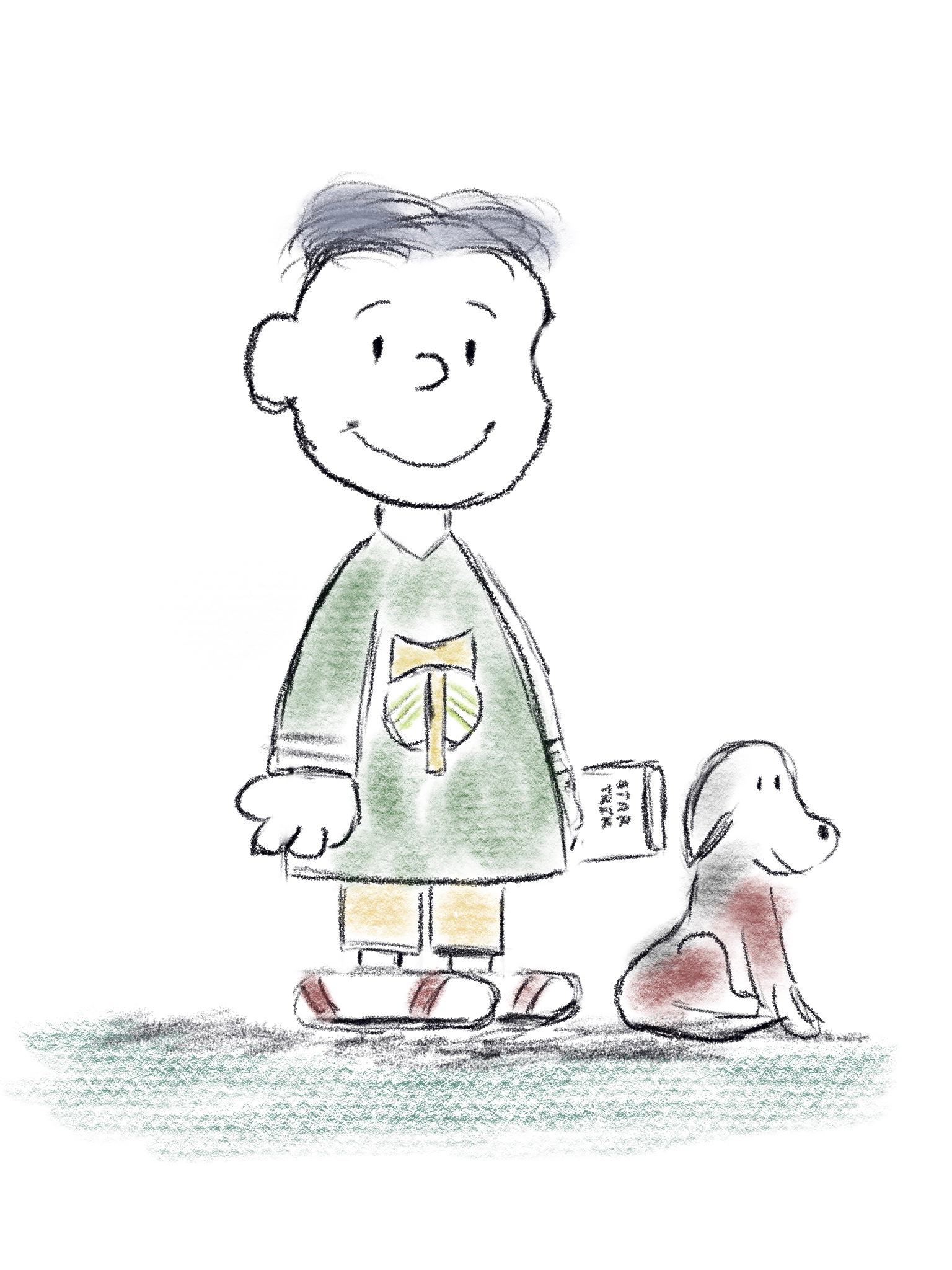 J.D. in Peanuts style